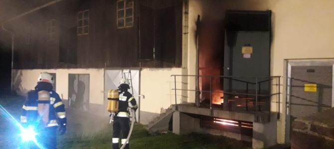 Trafobrand in Töplitsch