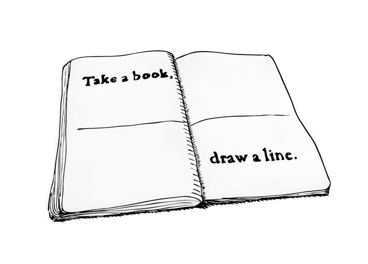 take a book, draw a line