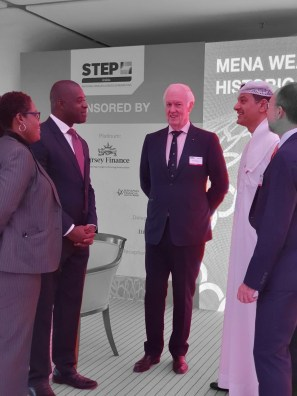 Hon. Elsworth Johnson, BFSB Chairman & CEO With STEP Arabia Branch Members