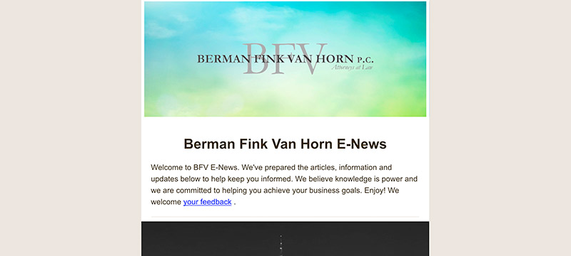 bfv summer newsletter