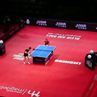 Halbfinale Damen 2 - Ding Ning vs. Wang Manyu