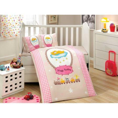 Спален комплект за бебе момиче розов