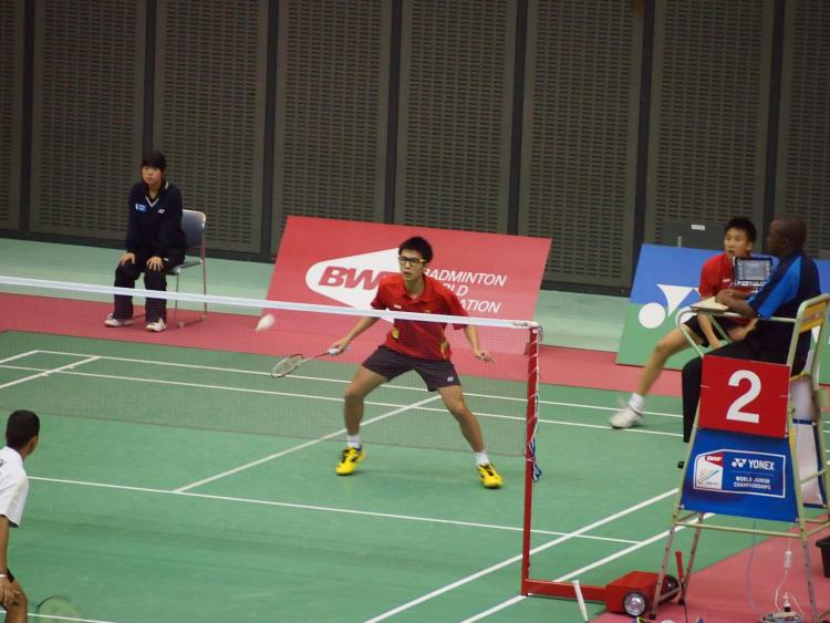 This was me representing Singapore in the BWF World Junior Championship at Chiba, Japan in 2012