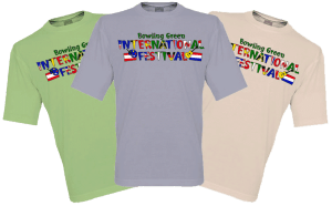 Bowling Green International Festival logo T-shirt design