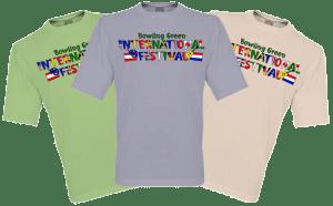 Bowling Green International Festival logo T-shirt design
