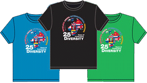 2014 t-shirt design by INI Printwork 25 Years of Celebrating Diversity