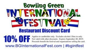 Restaurant Discount Card