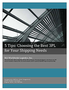 BGI White Paper - 5 Tips for Choosing a 3PL