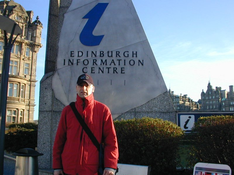 Me in Edinburgh Scotland, visiting a dDoS victim