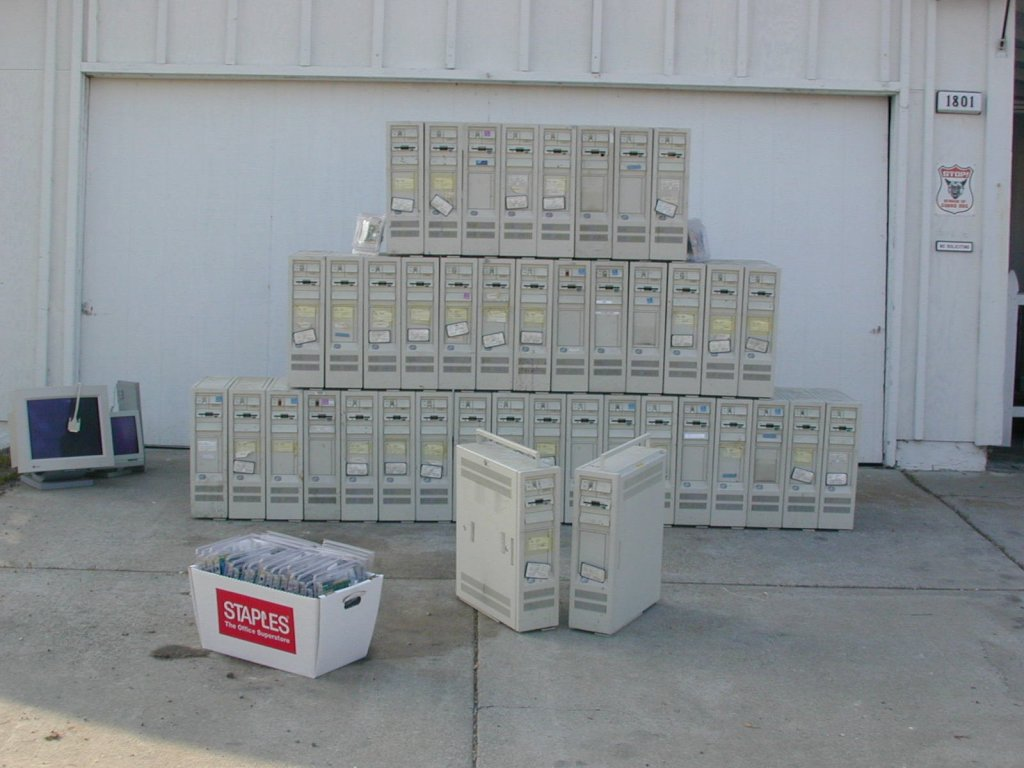 Cluster Machines picked up from the DWP in Los Angeles