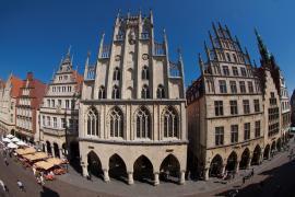 Das Rathaus von Münster in der Abendsonne am 24.05.2012. Foto:MünsterView/Heiner Witte