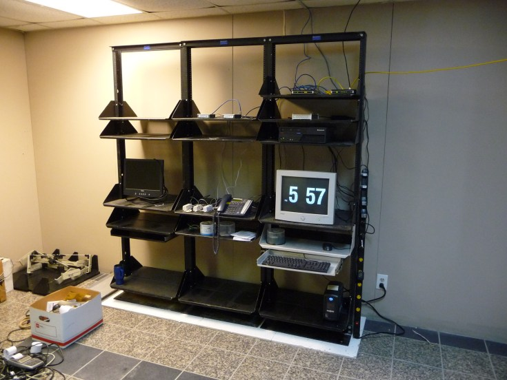 Macromedia ShockWave Racks in a transmission shop in Dallas TX (mid-2012)