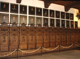 The original seats for the 1648 peace treaty negotiations at town hall in Münster