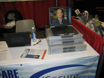 RSA San Francisco - our booth. The inline devices ran on an embedded Linux