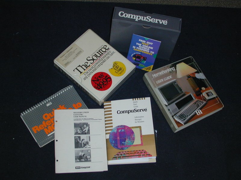 BofA Hombanking 1987, CompuServe ... btw I still have all of these in 2017