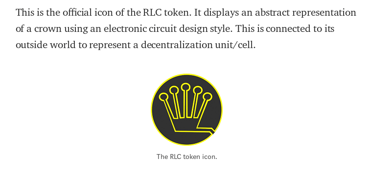 """RLC Token Icon - The RLC cryptocurrency stands for """"Run on Lots of Computers"""""""