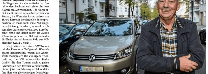 Berliner Autofahrer siegt gegen VW