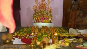 Naimisharanyam pooja set up