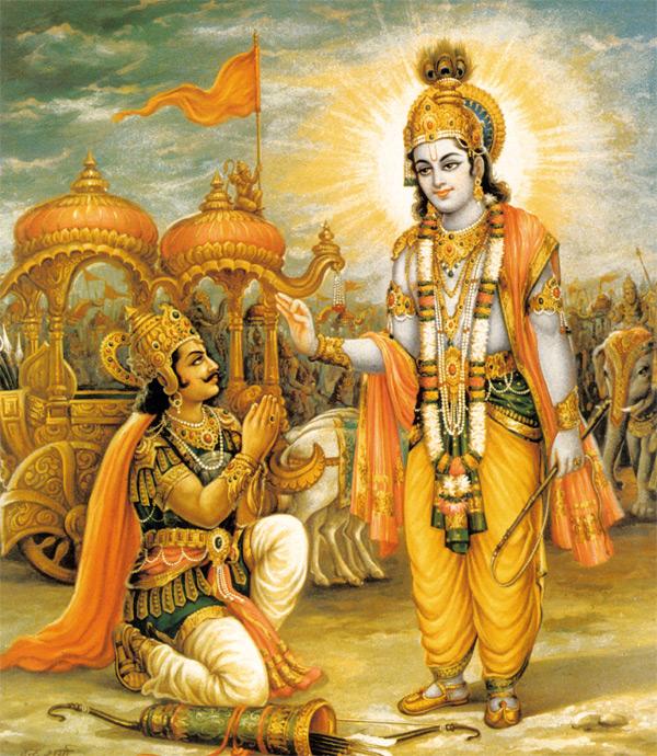 Image result for krishna teaching arjuna