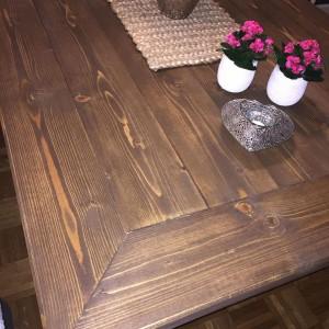 G-Spisebord med innramming beiset-og-vokset 2