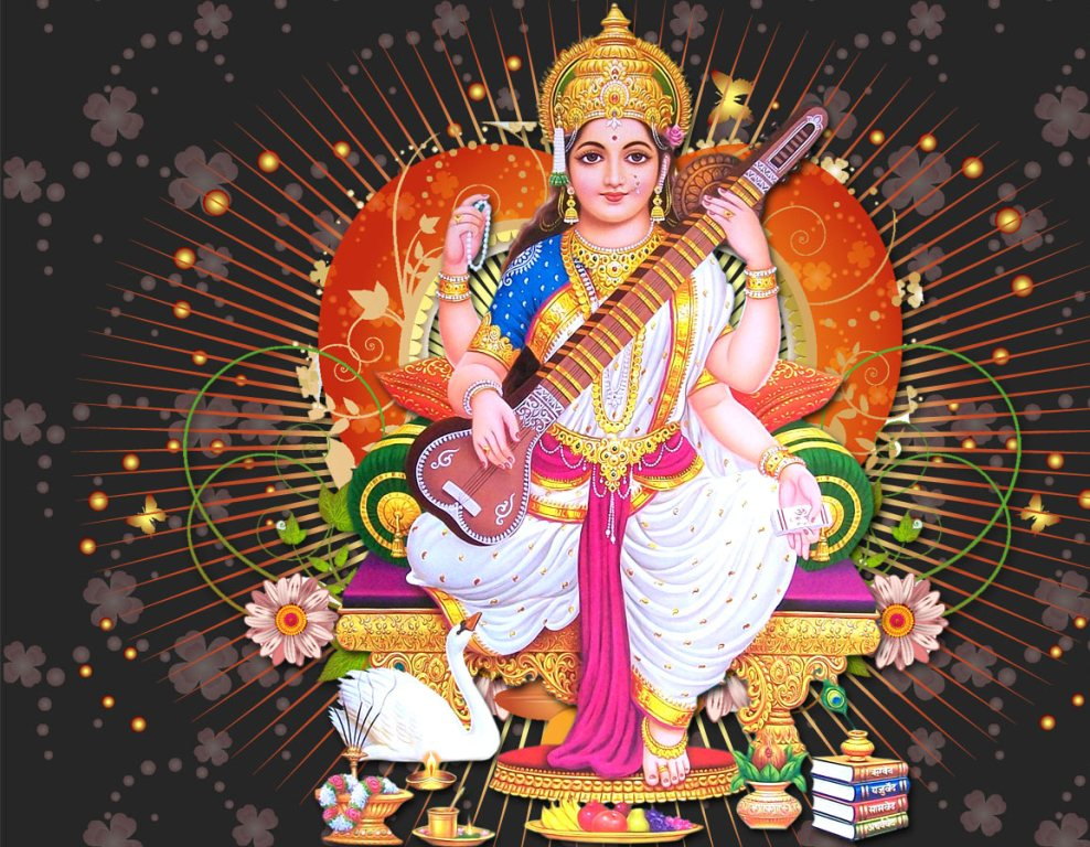 Download Free Hd Wallpapers Of Maa Saraswati À¤® À¤¸à¤°à¤¸ À¤µà¤¤ Maa Saraswati Wallpaper Download Maa Saraswati Photo Download