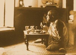 Vivendo no templo de Radha-Damodara Mandir em 1950