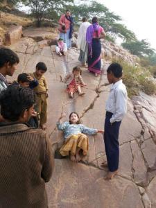 Local onde Krsna brincava de escorregar com os sakhas.