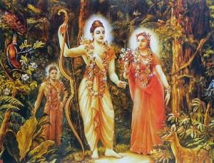 Sita e Rama na floresta
