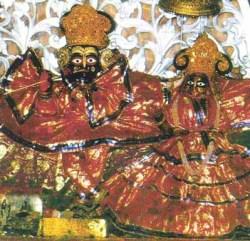 Sri Sri Radha-Govinda, as deidades substitutas adoradas hoje no Templo de Sri Govindaji.