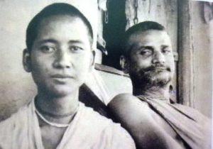 Srila Bhakti Prajnana Kesava e seu servo Ananga Mohan