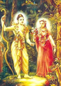 Sri Ramacandra e sua consorte Sita-Devi