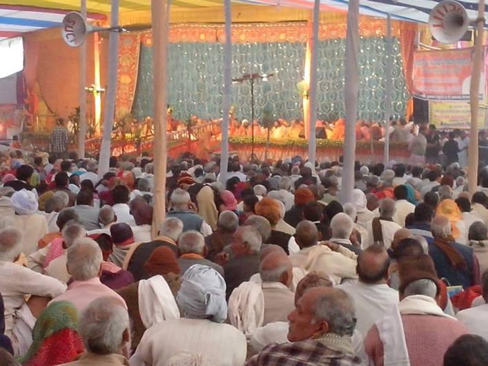 Mahotsava no templo local- Festival em comemoração ao casamento de Sri Rama e Sita devi.