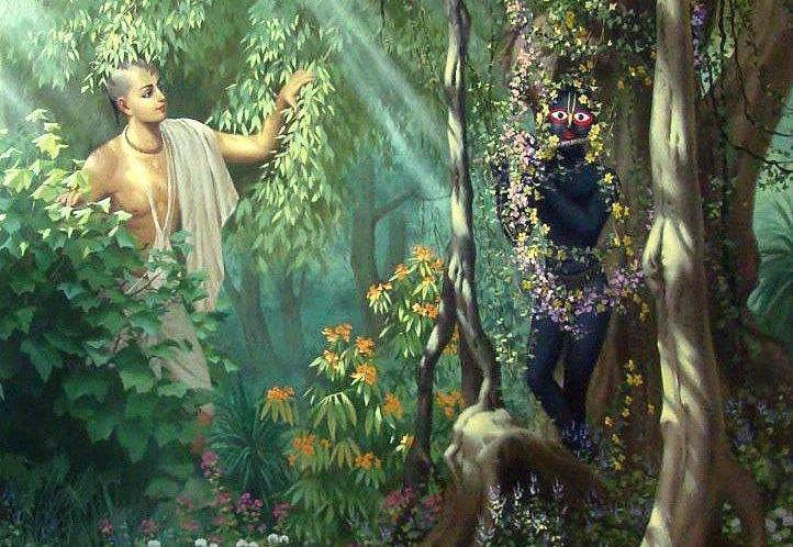 No momento do Seu desaparecimento, Mahaprabhu entrou na Deidade de Tota-Gopinatha. Mahaprabhu deixou este mundo aos 48 anos, quando Sri Gadadhara Pandita tinha 47. Em profunda separação, Gadhadara Pandita tornou-se rapidamente envelhecido, e logo também desapareceu.
