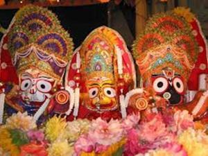Sri Jagannatha, Baladeva e Subhadra.