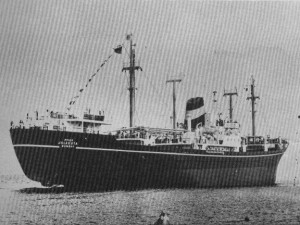 Navio Jaladutta, onde Srila Prabhupada partiu da India para o Ocidente.