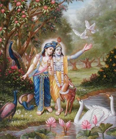 Os passatempos do Senhor Baladeva são ilimitados, Suas virtudes são ilimitadas, e Seu amor por Krsna é ilimitado!