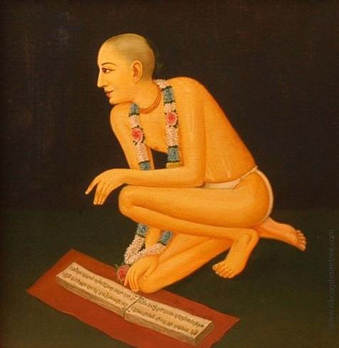 Ouvindo isso, Rupa Gosvami começou a chorar por Jiva, a quem ele tanto amava! Quando Sanatana Gosvami trouxe Jiva até lá e colocou-o no colo de Rupa Gosvami, tanto o guru quanto o discípulo choraram.