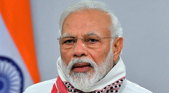 The Prime Minister, Shri Narendra Modi addressing the Nation, in New Delhi on April 14, 2020.