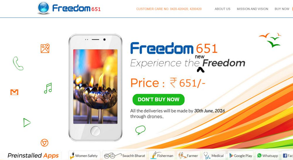#Freedom651 –  Spoof on #Freedom251 #ApniDukaan