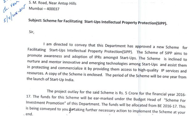#Startups Intellectual Property Protection Scheme #startupindia