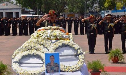 General Dalbir Singh COAS Paid Solemn Homage to Major Amit Deswal