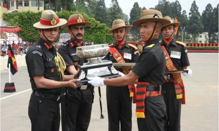 DEPUTY CHIEF OF ARMY SRAFF REVIEWS THE ATTESTATION PARADE AT ASSAM REGIMENTAL CENTRE