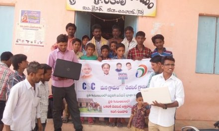 VLEs in Telangana held Digital Literacy Awareness cum Special Registration Drive