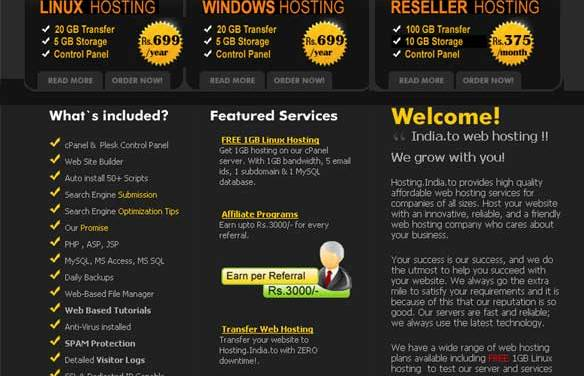 Hosting.India.To Review : Reliable Linux Shared Hosting Providers in India