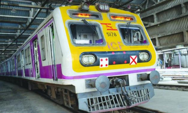 Trial started for First train built Under #MakeInIndia : Medha