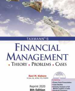 Taxmann's Financial Management with CD by Ravi M. Kishore - 8th Reprint Edition May 2020