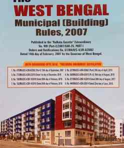 B.C. Publication's The West Bengal Municipal (Building) Rules, 2007 by Shambhu Prasad Choudhury