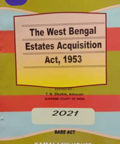 KLH's The West Bengal Estates Acquisition Act, 1953 (Bare Act) - Edition 2021