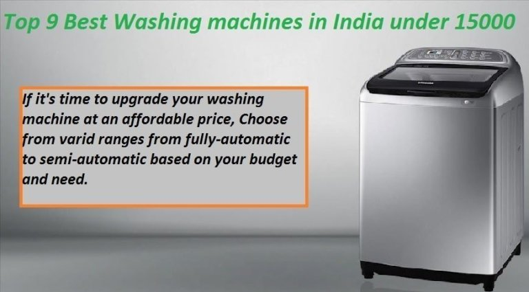 Best washing machines in India under 15000 in India