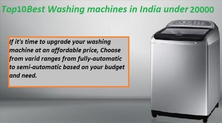 washing machines under 20000